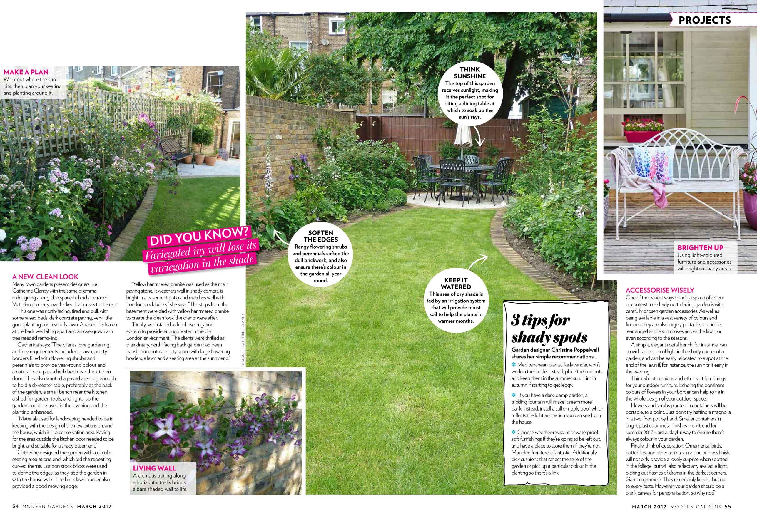 north facing gardens - Garden Design London - Catherine Clancy